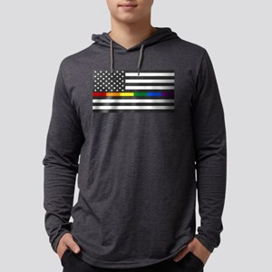 Thin Rainbow Line Flag Long Sleeve T-Shirt